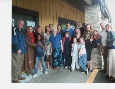 The entire family (at the time) on June 4th, 2008 . . . the 5th anniversary of Dad's passing.