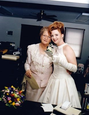 Mom and Heather on her Wedding Day