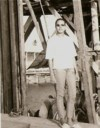 On her way to camp - Parika, Guyana, 1968 (19 yrs old)