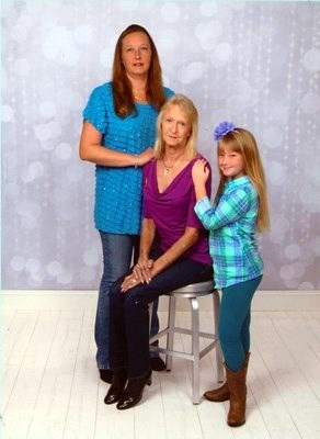Mom,daughter and granddaughter.So much love between them.