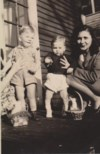 Harvey (on left), age 2 with cousin Johnny McCombs and Aunt Gladys in Michigan.
