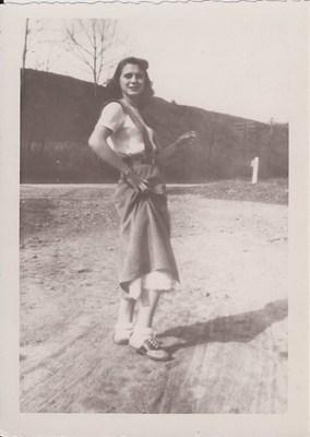 Marion striking a pose