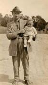 Baby Eleanor with her father Benjamin Garside